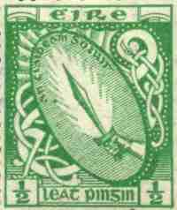 eire postage stamp, sword of light