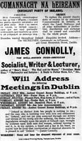 James Connolly return meeting poster 1910